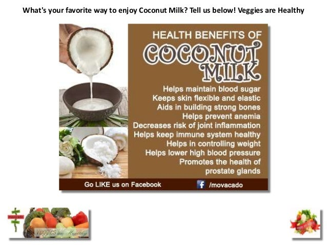 Whats your favorite way to enjoy Coconut Milk? Tell us below! Veggies are Healthy