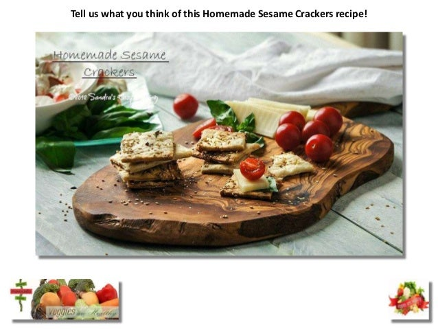 Tell us what you think of this Homemade Sesame Crackers recipe!