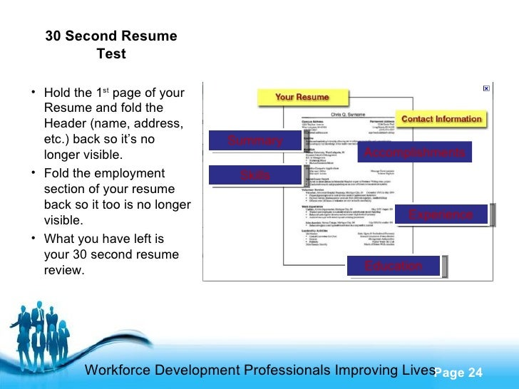 what you need to to ace the 30 second resume test
