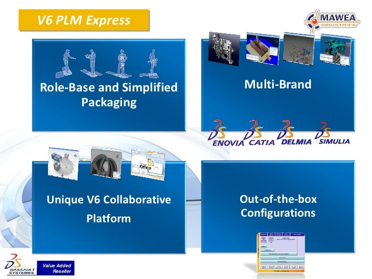V6 PLM ExpressRole-Base and Simplified   Multi-Brand       Packaging Unique V6 Collaborative   Out-of-the-box             ...
