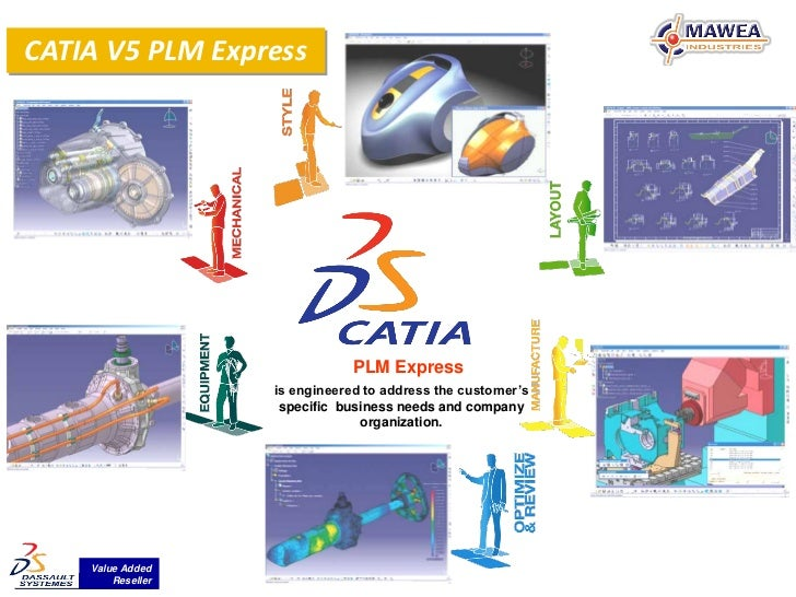 CATIA V5 PLM Express                               PLM Express                   is engineered to address the customer's  ...