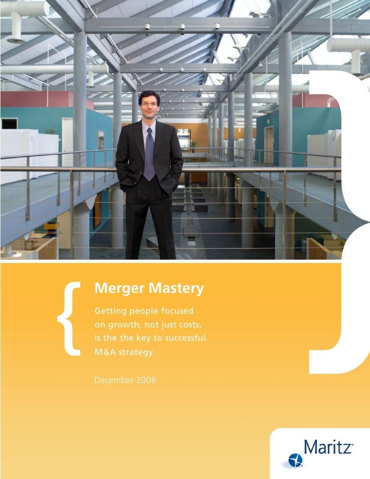 Merger Mastery Getting people focused on growth, not just costs, is the the key to successful M&A strategy.   December 2006