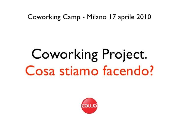 Coworking Camp - Milano 17 aprile 2010      Coworking Project. Cosa stiamo facendo?