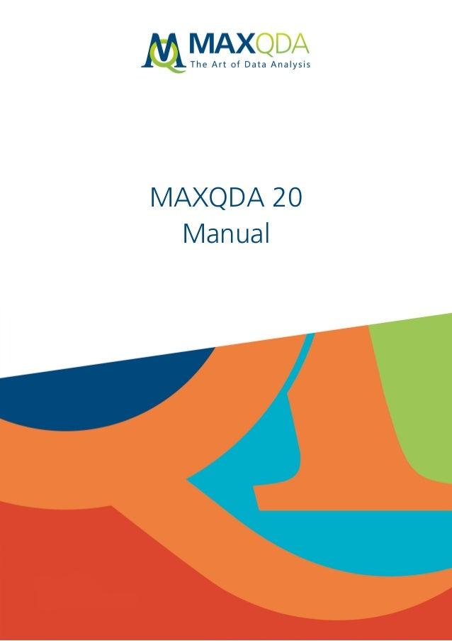 MAXQDA 20 Manual