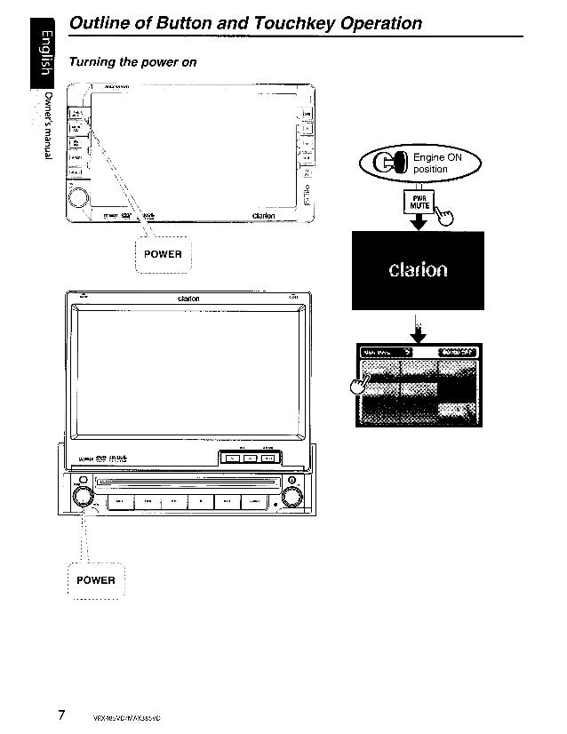 Clarion Max385vd user manual
