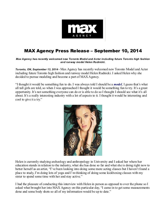 Max Agency Has Recently Welcomed New Toronto Model And