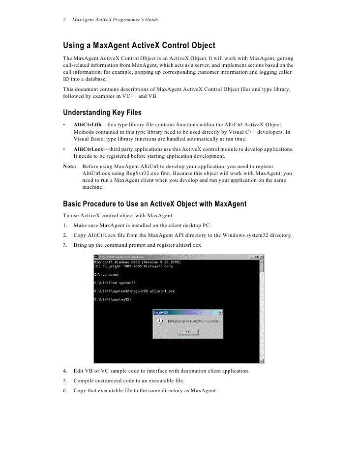 AltiGen Max Agent Active X Programmer S Guide