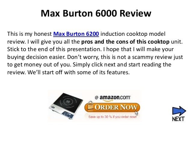 Max Burton 6000 ReviewThis is my honest Max Burton 6200 induction cooktop modelreview. I will give you all the pros and th...
