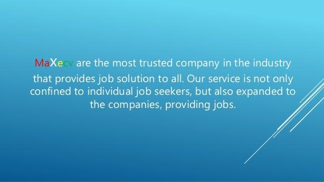 maxecv job portal profiles resume writing services - Resume Writing Companies