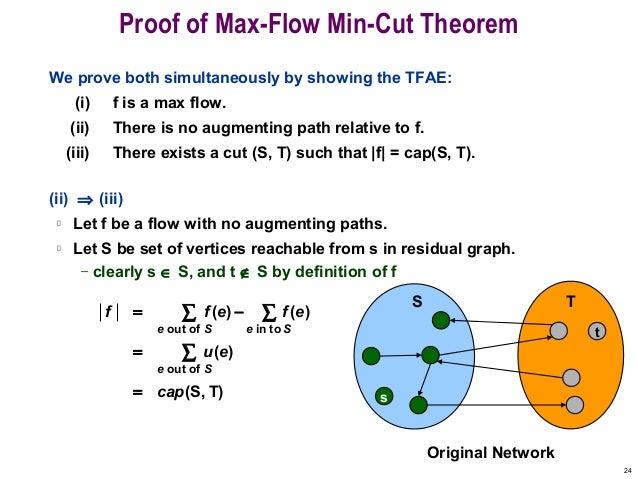 Max flow min cut.