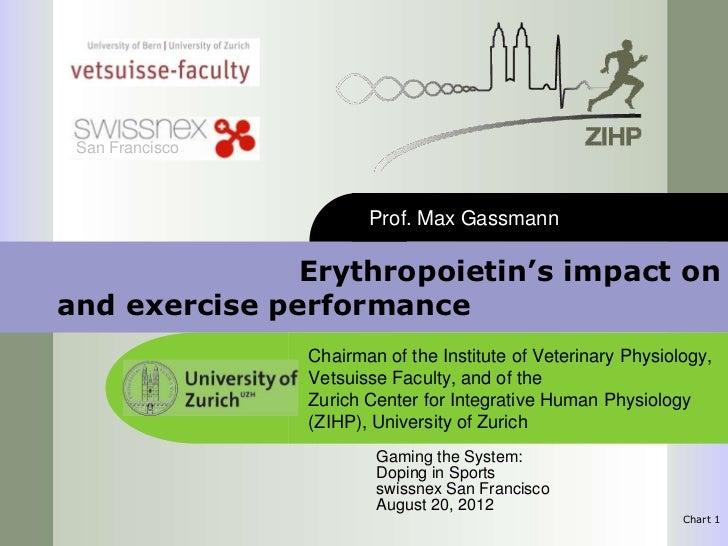 San Francisco                        Prof. Max Gassmann               Erythropoietin's impact onand exercise performance  ...