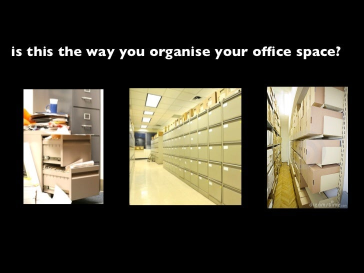 is this the way you organise your office space?