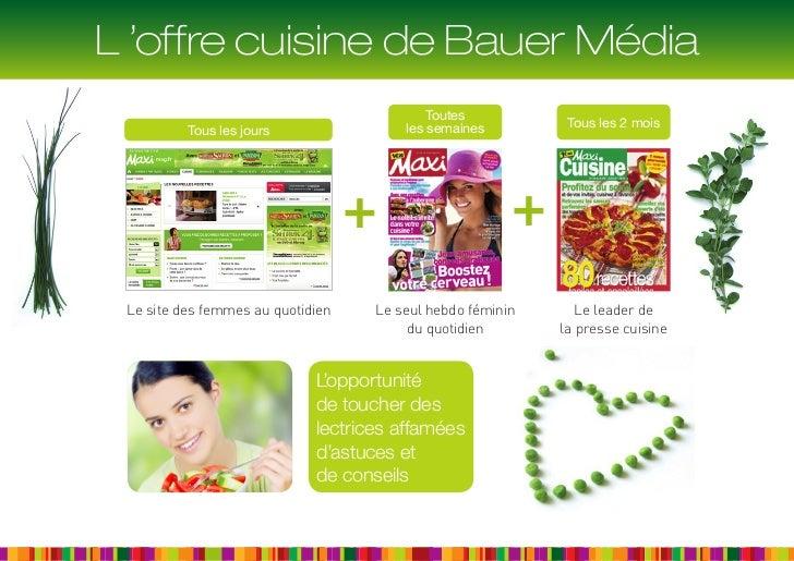 L 'offre cuisine de Bauer Média                                            Toutes                                        l...