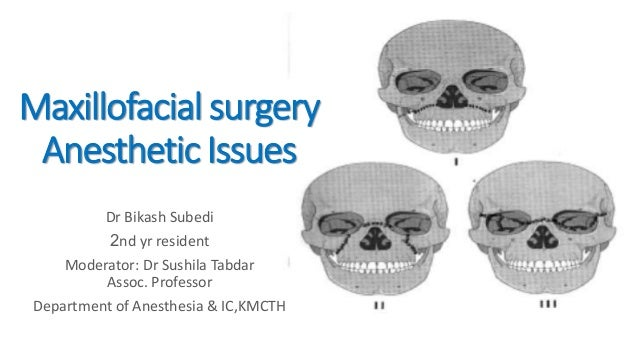 Maxillofacial surgery and anesthetic issues