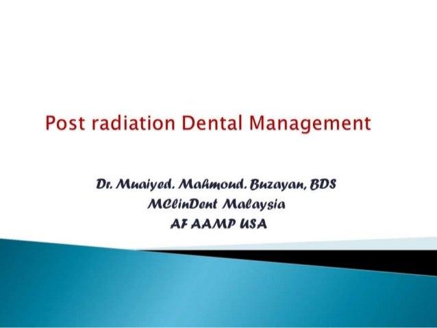 Maxillofacial radiotherapy 4th yr