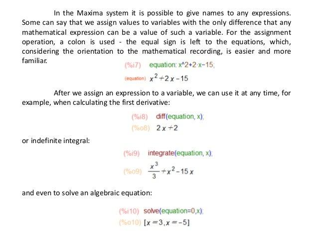 Maxima - minimalism in mathematics