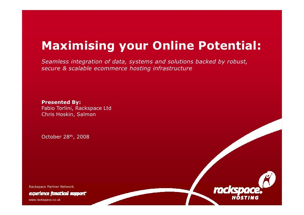 Maximising your Online Potential:        Seamless integration of data, systems and solutions backed by robust,        secu...