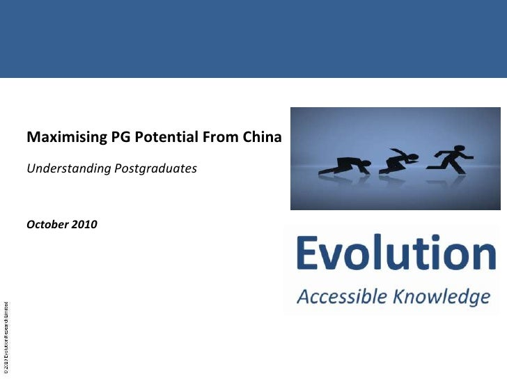 Maximising PG Potential From China [October 2010]