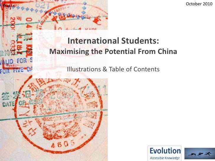 Maximising Potential From China - Report Overview