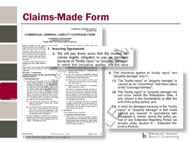 Insurance Provisions in Commercial Contracts
