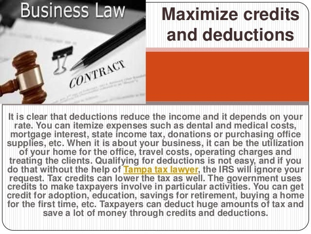 It is clear that deductions reduce the income and it depends on your rate. You can itemize expenses such as dental and med...