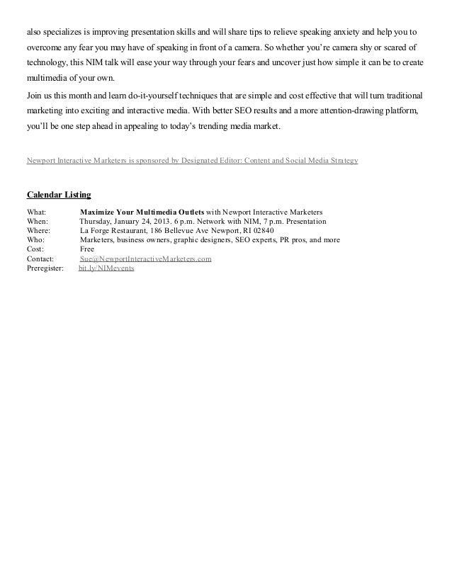 Maximize multimediaoutlets press_release_1-1.06.13_smm Slide 2