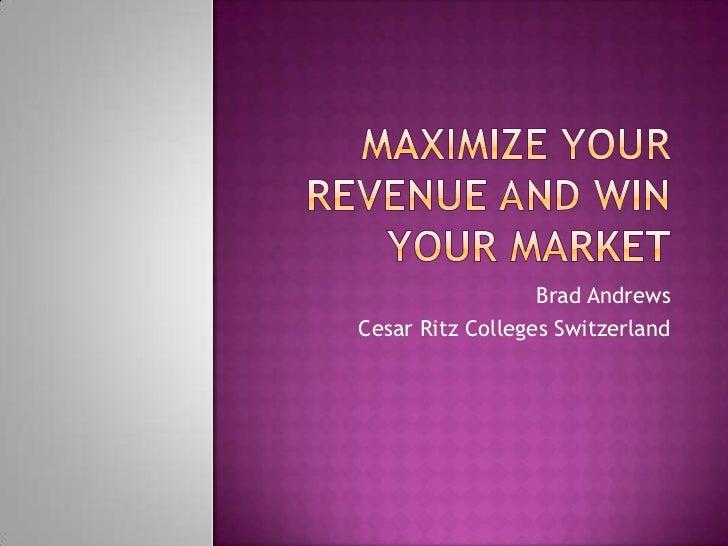 Brad AndrewsCesar Ritz Colleges Switzerland