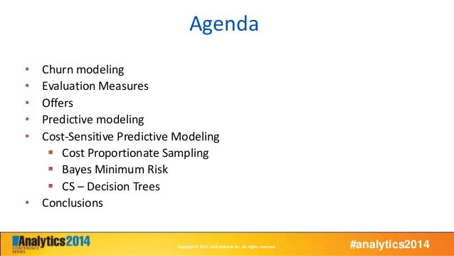 Maximizing a churn campaign's profitability with cost sensitive predictive analytics Slide 2