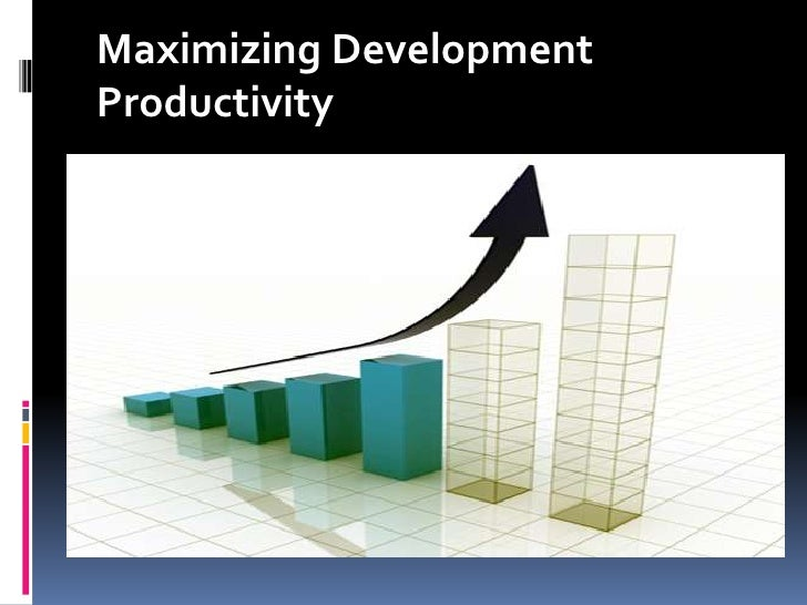 Maximizing Development Productivity<br />