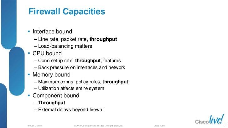 Maximizing Firewall Performance (2012 San Diego)