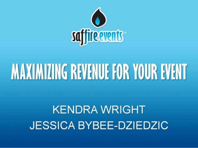 Maximizing revenue for your event