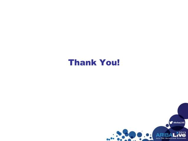 #AribaLIVE Thank You!