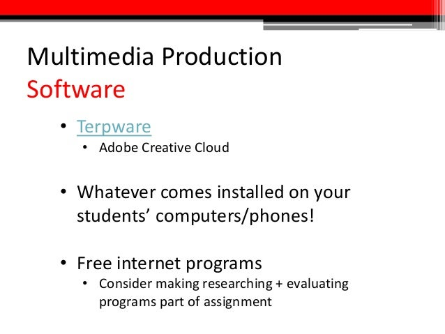 A multimedia assignment checklist