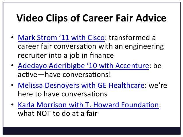 career fair advice