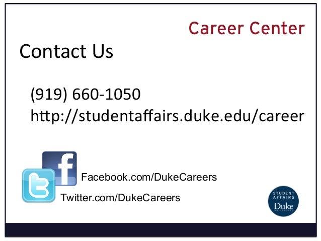 Duke University Career Center Resume