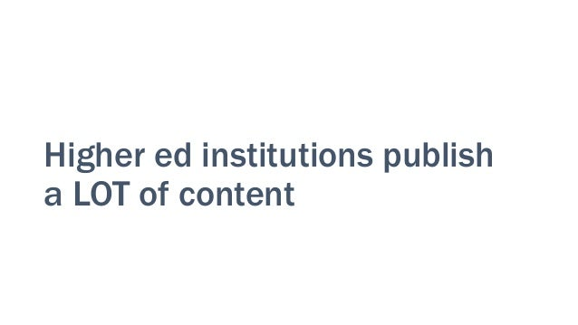 What don't we publish?? • Course details • Program info • Academic research • News stories • Alumni stories • Faculty bios...