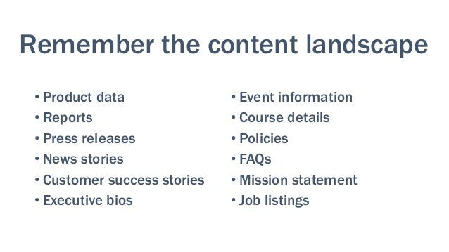 Content goals Each piece of content needs a clear, explicit reason to exist Examples: • Bring in non-dues revenue • Enco...