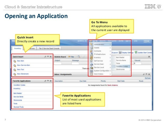 Opening an Application  Go To Menu  All applications available to  the current user are diplayed  Favorite Applications  L...