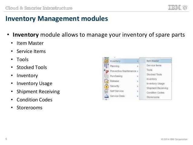 Maximo Training - Inventory Management