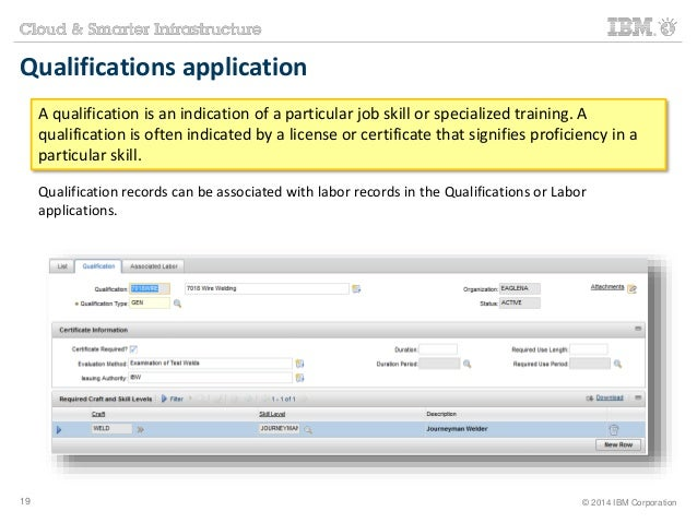 Qualifications application  A qualification is an indication of a particular job skill or specialized training. A  qualifi...
