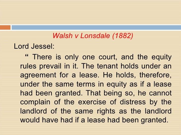 WALSH V LONSDALE EBOOK