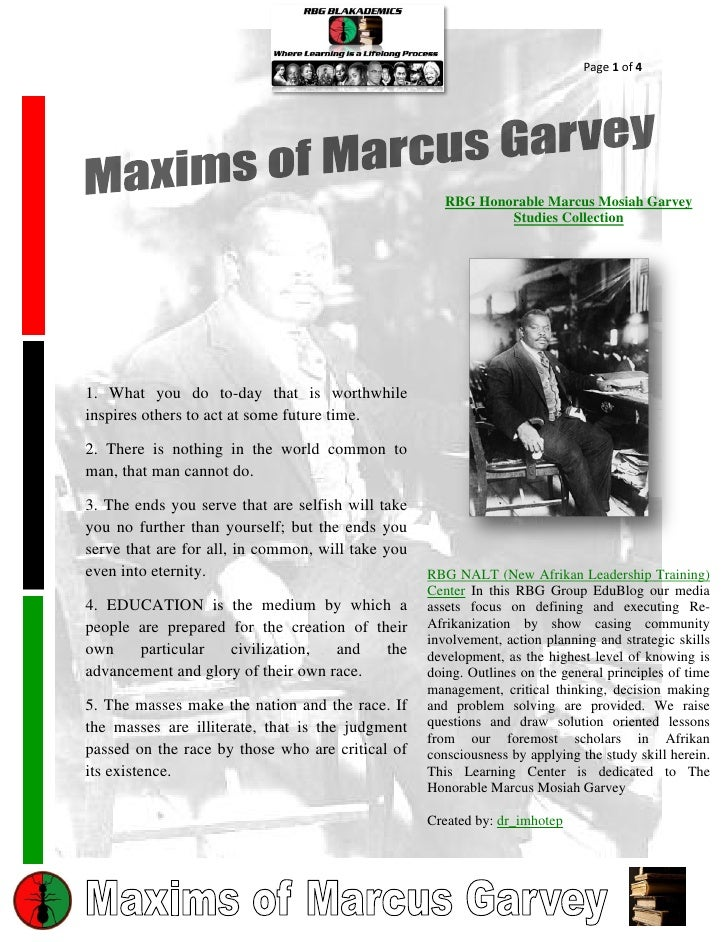 Page 1 of 4                                                      RBG Honorable Marcus Mosiah Garvey                       ...