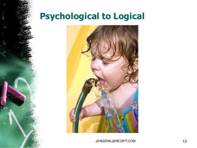Psychological to Logical            JANGIDML@REDIFF.COM   13