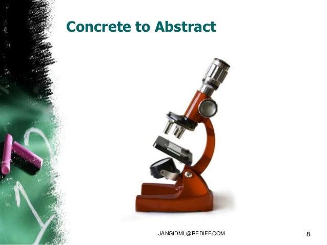 Concrete to Abstract            JANGIDML@REDIFF.COM   8