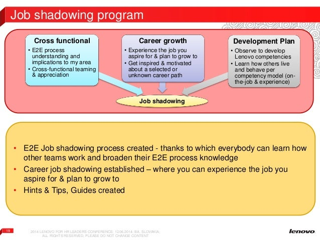 tips for job shadowing