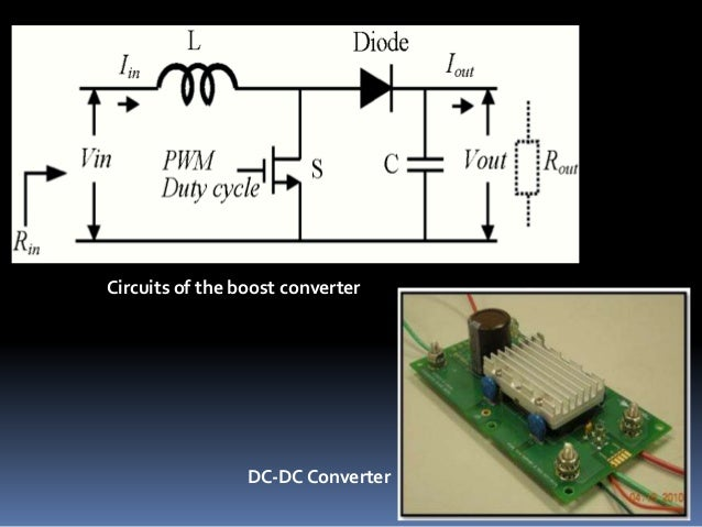 Circuits of the boost converter DC-DC Converter
