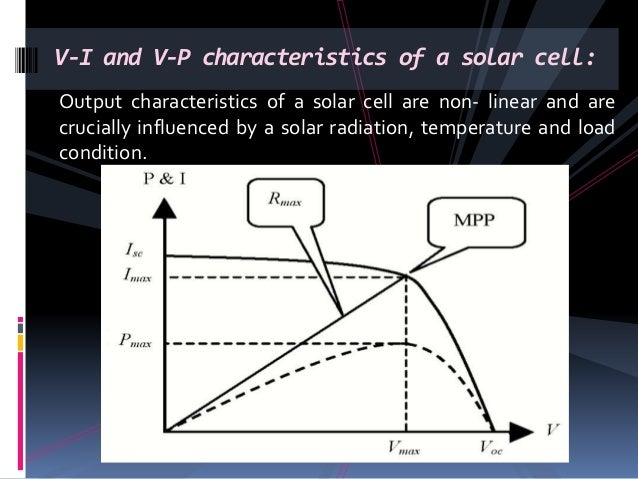Output characteristics of a solar cell are non- linear and are crucially influenced by a solar radiation, temperature and ...