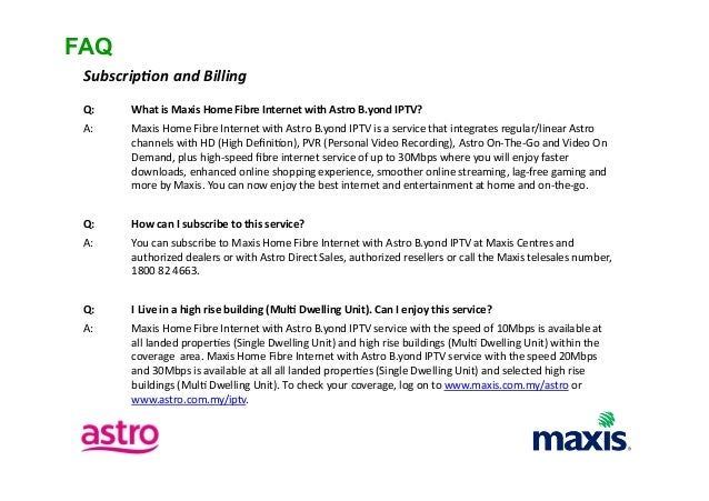Maxis Fibre Bundled with Astro IPTV