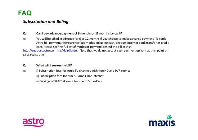 Maxis Fibre Bundled with Astro IPTV
