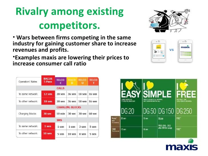 maxis porter 5 forces 2-5 michael porter's five forces analysis 6-9 competitor analysis 10-12  the  country's major telecom players, maxis, and celcom won the bid together with.
